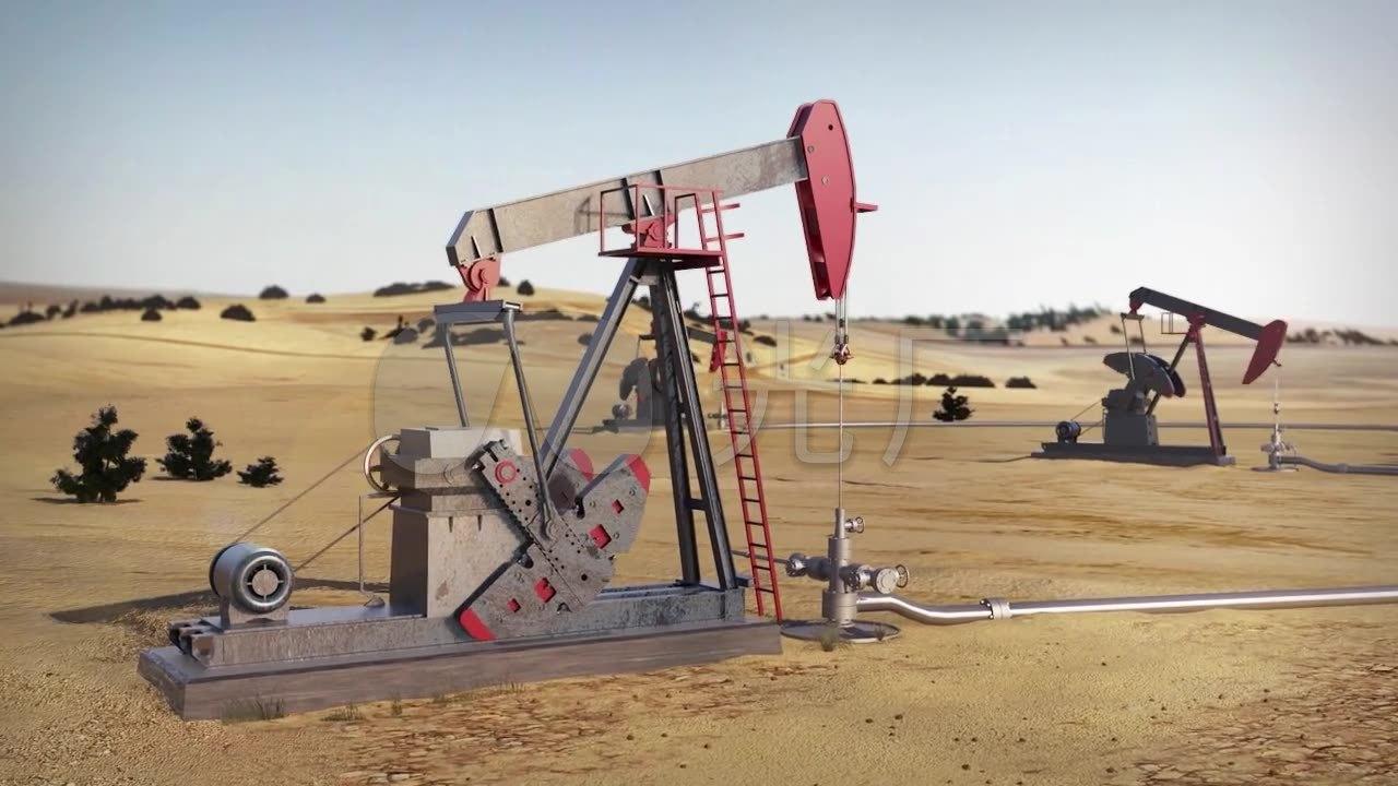 视频素材 酒吧vj 卡通3d 石油开采油井原油三维模拟动画vj  来自视频图片