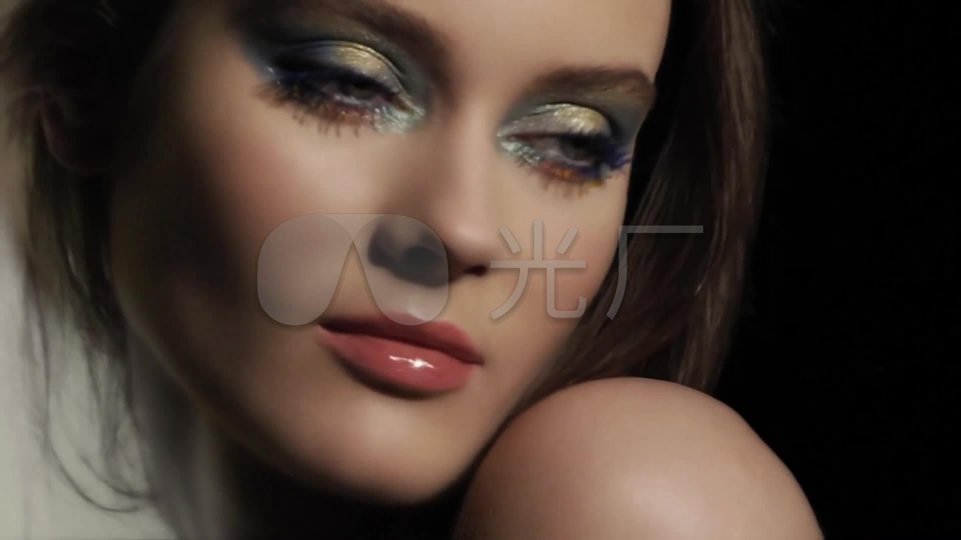 眼影性感模特性感本田_1920X1080_视频内衣时尚莉眼霜图子高清图片