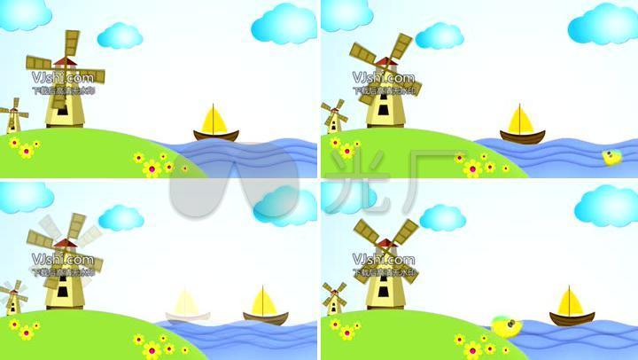 六一儿童节快乐矢量卡通主题节目背景3