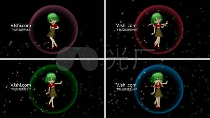 高清小女孩视频女生2_1920X1080_软件素材素苹果舞蹈卡通图片