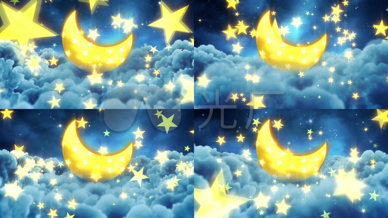 星月童话唯美星空卡通背景视频素材图片