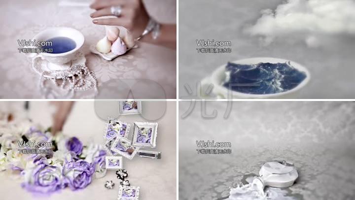 欧式贵族珠宝首饰创意广告宣传视频素材