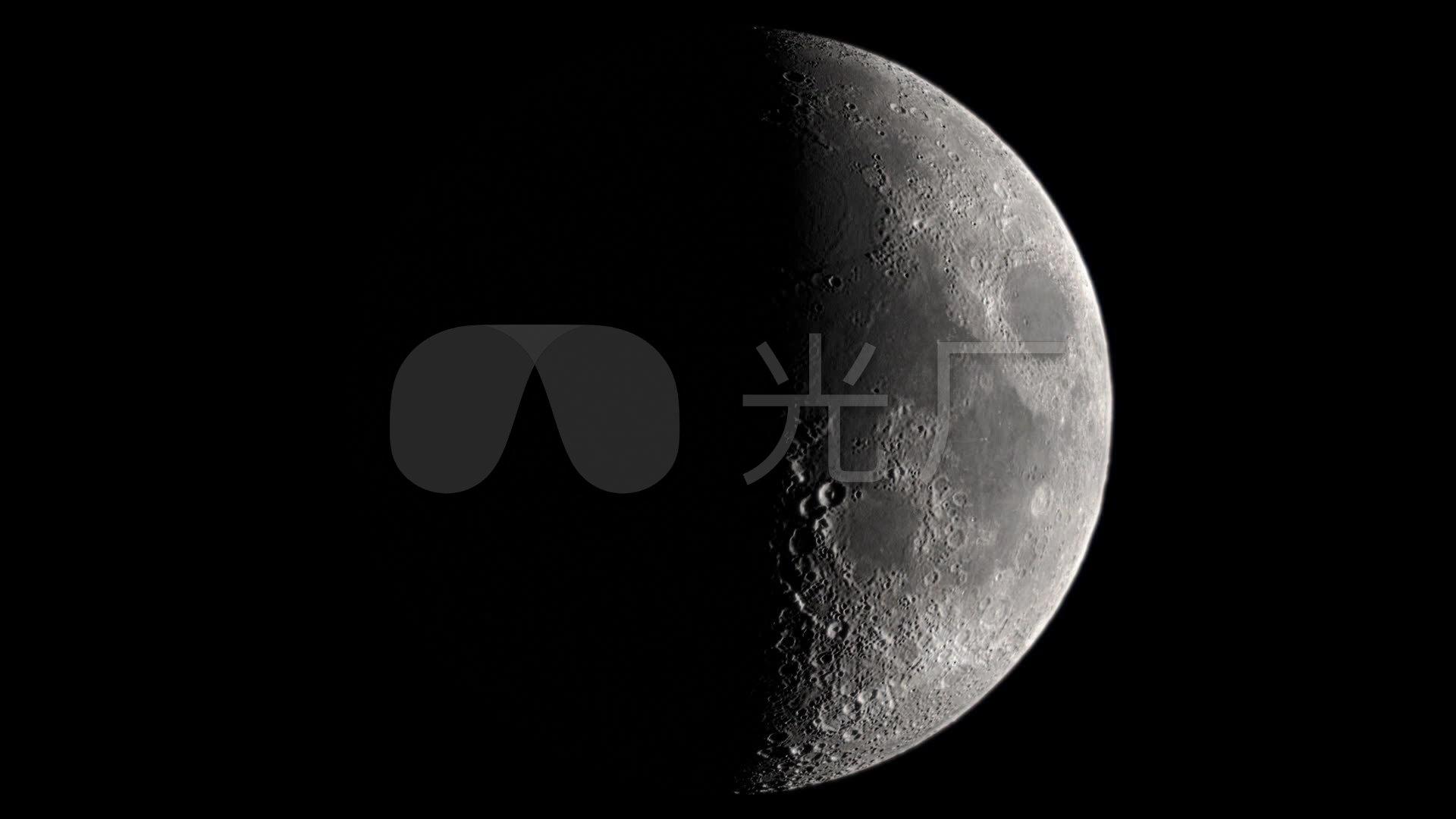 月球圆缺高清视频素材
