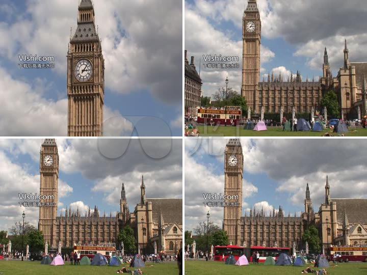 大本钟英国伦敦著名建筑高清视频