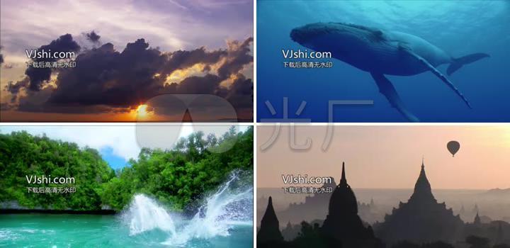 巴厘岛海底大海风景素材_1280x620_高清视频素材下载