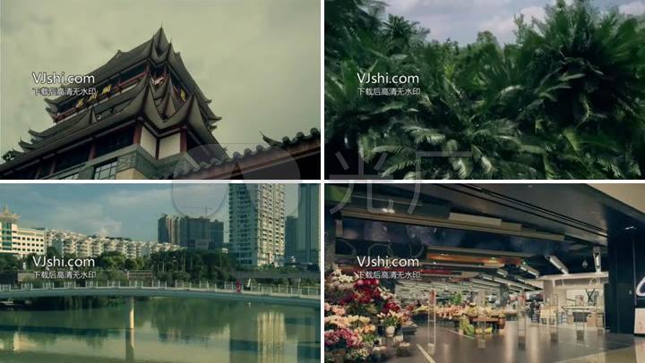 广西南宁城市延时摄影