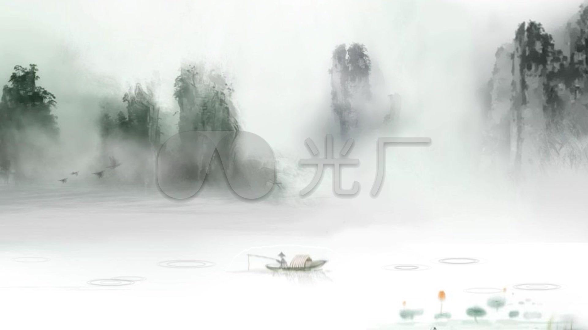 中国风高清山水画v高清_1920X1080_苹果水墨视频恶视频搞图片