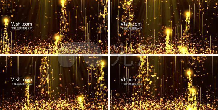 颁奖背景金色光线粒子