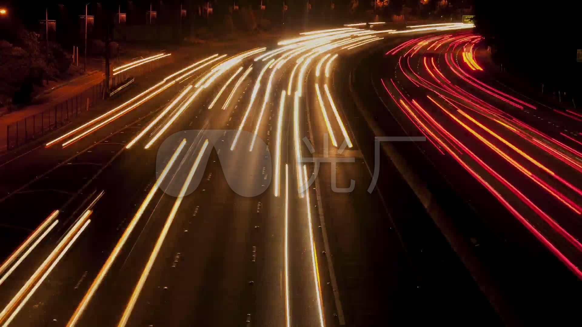 夜晚车流线_1920X1080_高清微波素材下载(编视频监控视频图片