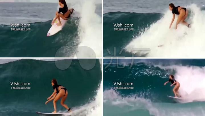 搞笑美女视频海上滑板冲浪_1280X720_美女视高清38岁图片