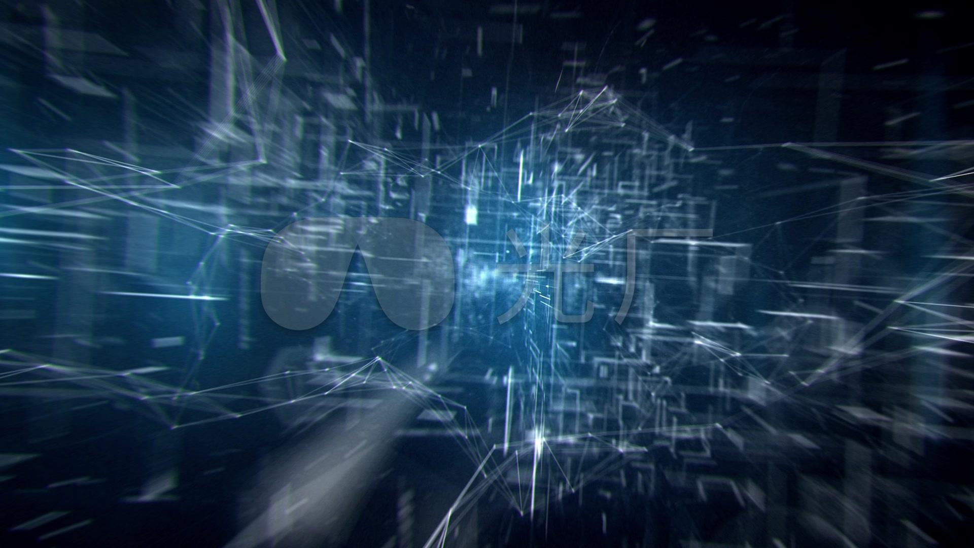 非常壯觀未來高科技特效_1920x1080_高清視頻素材下載圖片