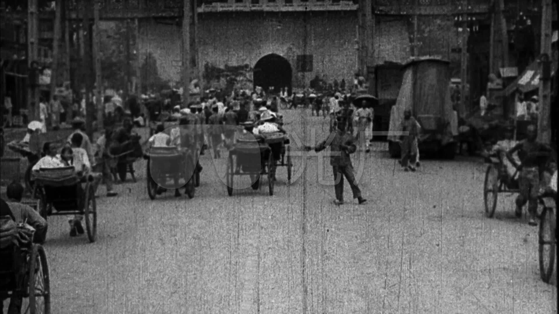 旧时大上海拉黄包车高清_1920X1080_视频视标书精装视频图片