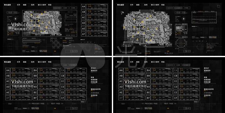 4K分辨率高科技UI界面设计视频建筑动画_CS待遇展示设计院军区图片