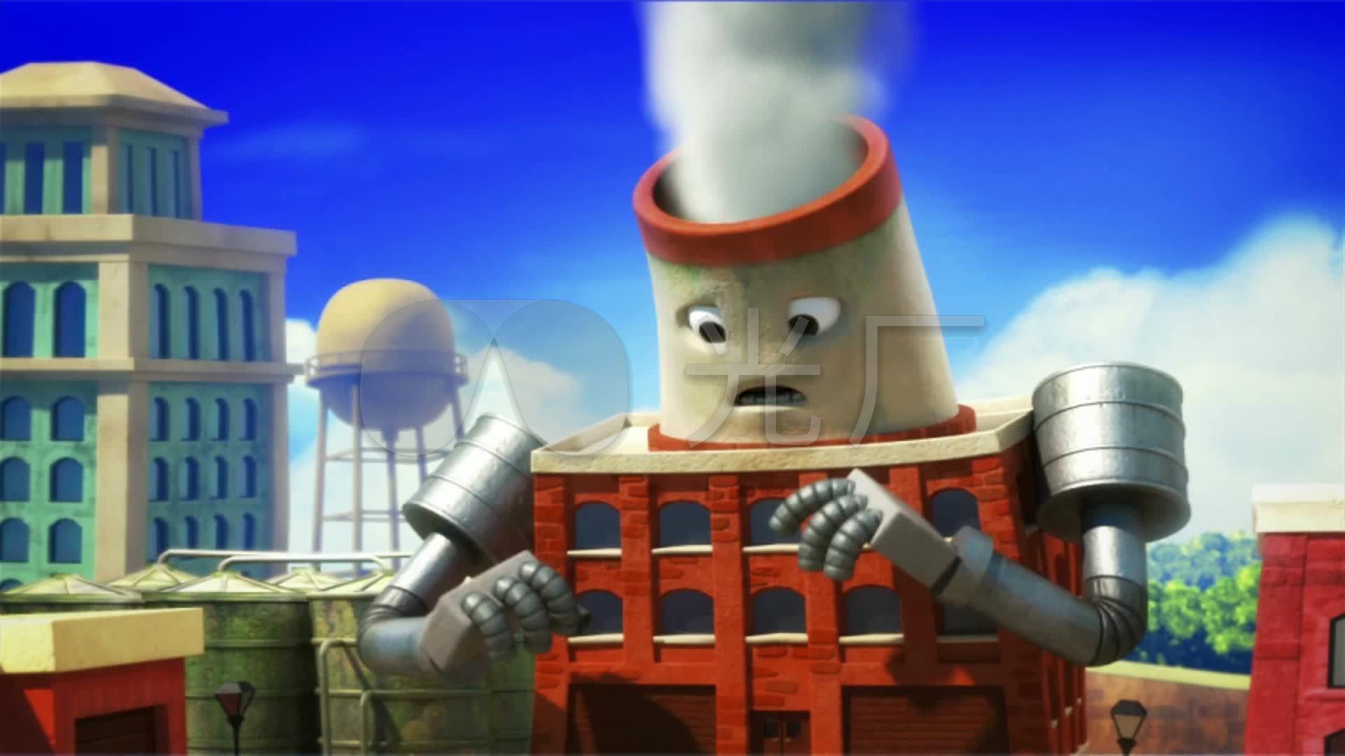 环境污染动画短片_1920X1080_高清视频素材