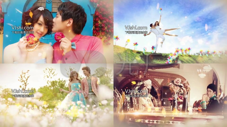 会声会影韩式唯美婚礼电子相册模板