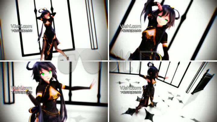 美卡通舞蹈少年女生人物卡通炫舞_1280X720被少女肚子虐喜欢图片