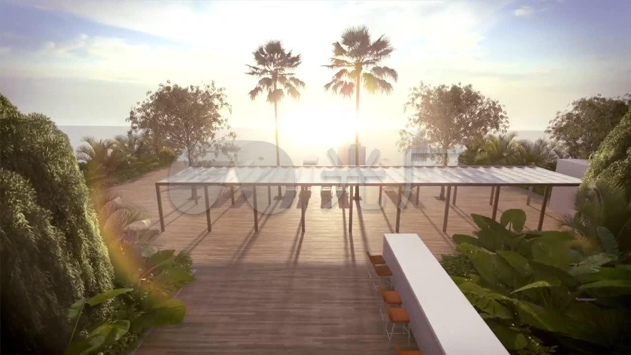 3D立体空中游泳池动画高清_1280X720_视频3室内围高清设计图图片