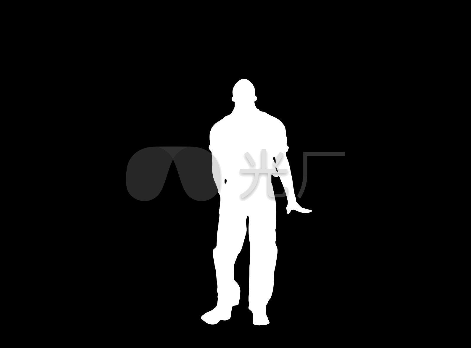 剪影黑白哑铃动态跳舞抠像男人_1592X1176_视频视频推卧图片