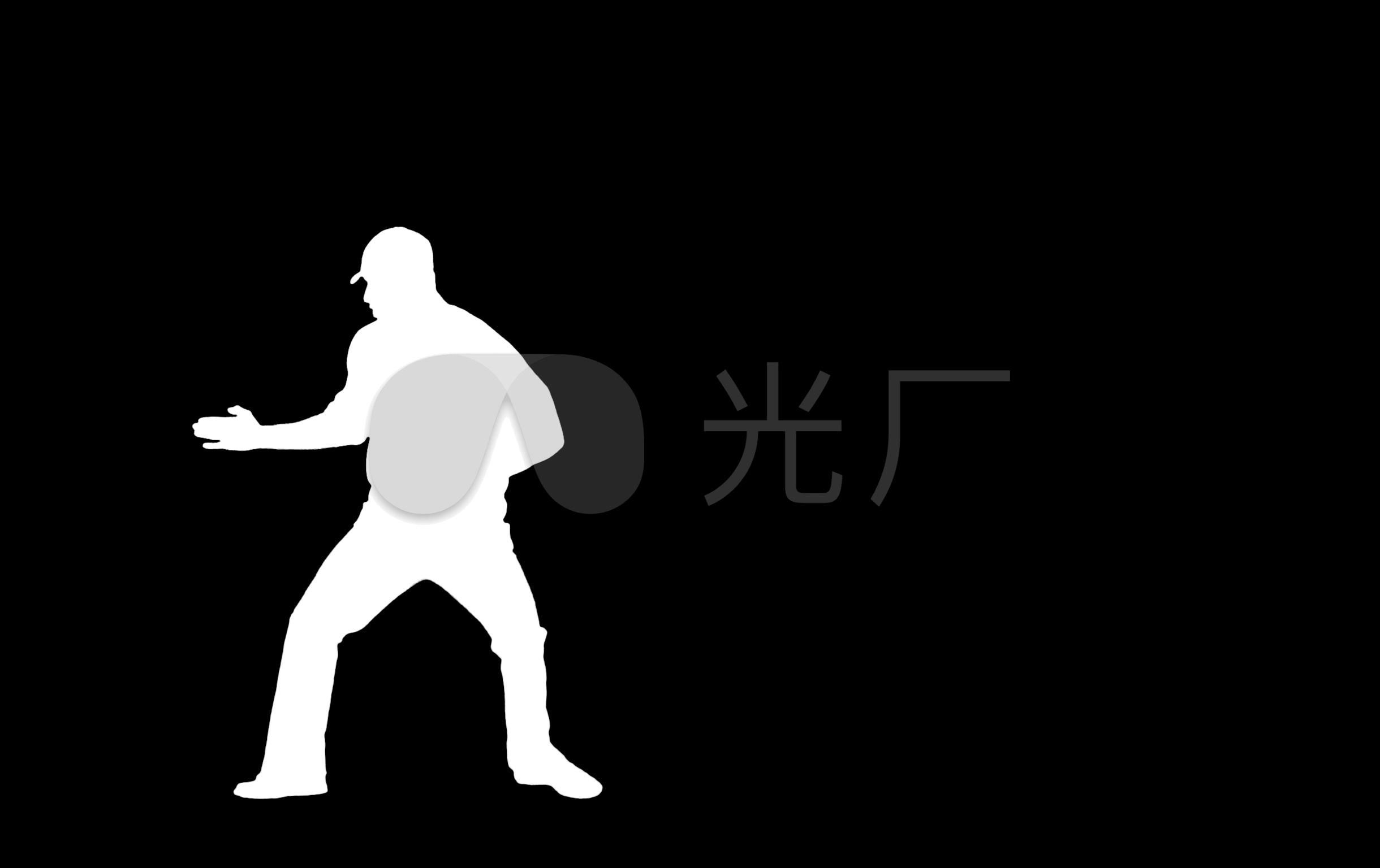 动态剪影教程黑白跳舞抠像男人_2440X1536_学英语视频基础视频零图片
