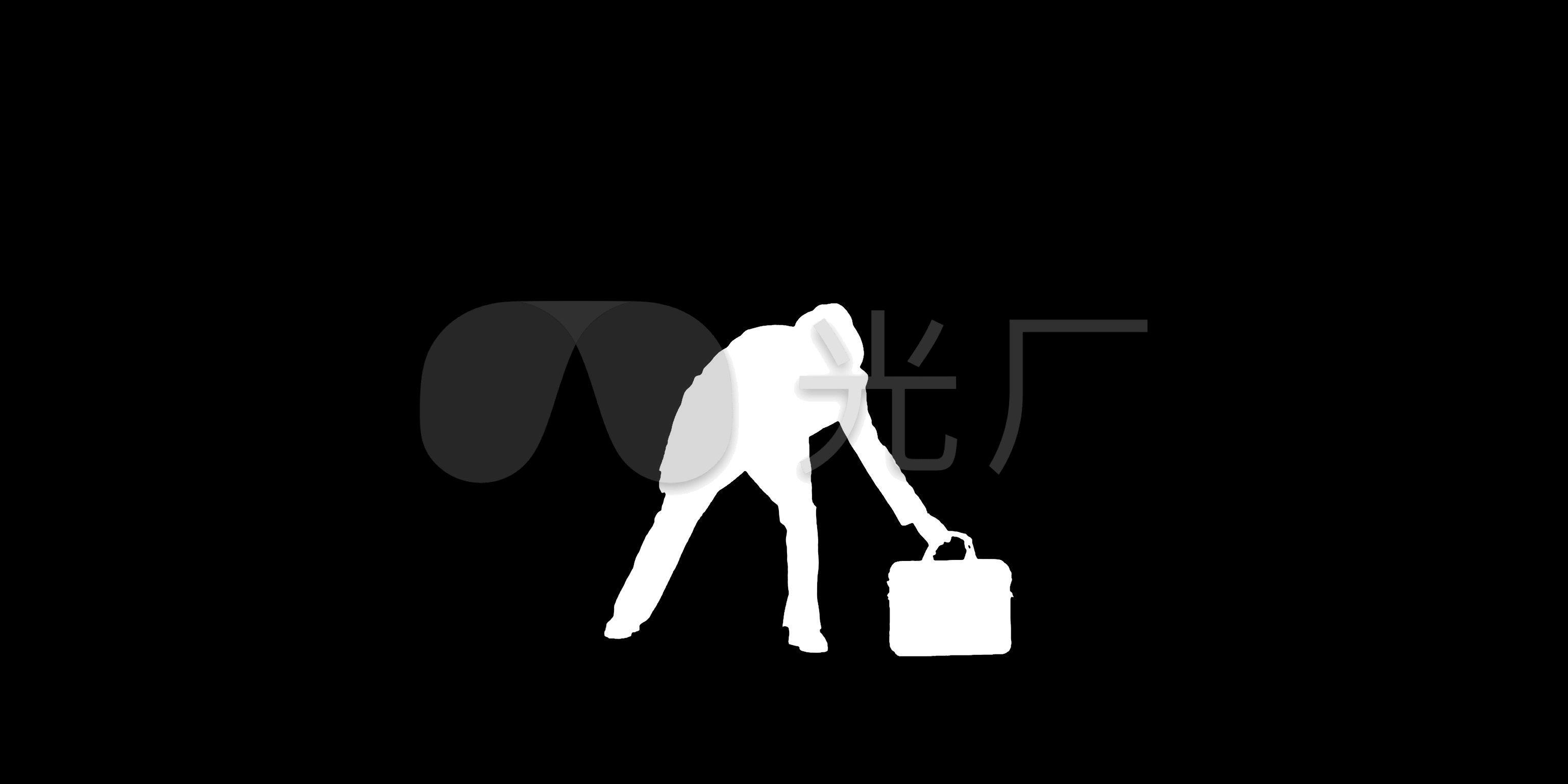 佣金视频黑白男人跳舞抠像动态_3072X1536_视频发剪影图片
