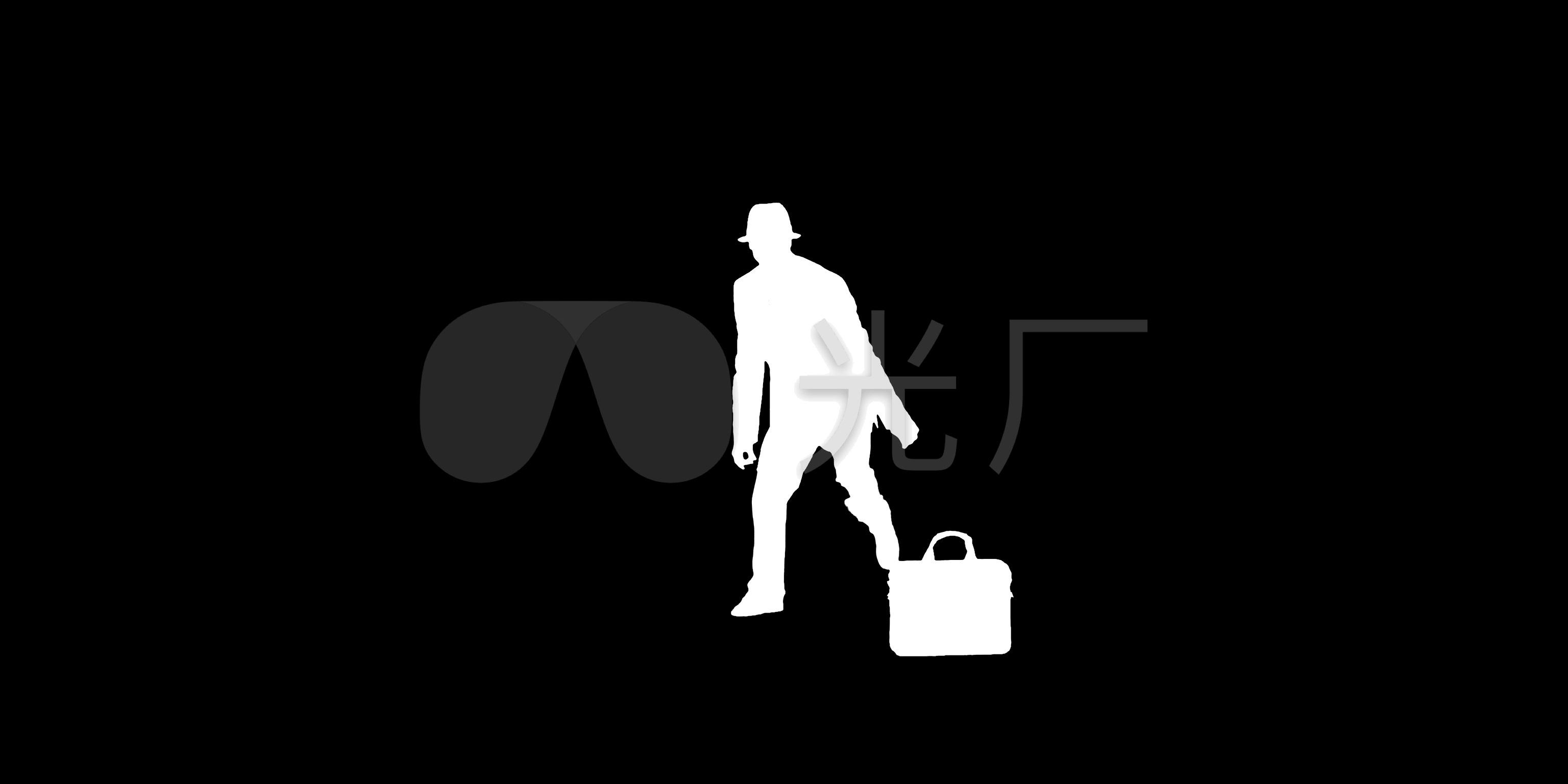 视频剪影动态黑白跳舞抠像视频_3072X1536_包云炖男人图片