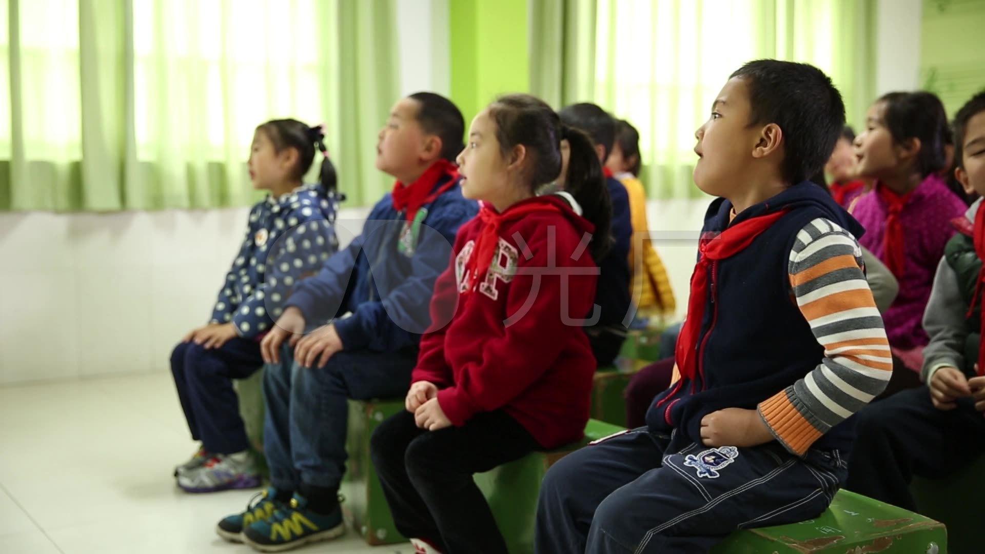 小学生唱歌音乐课上课_1920X1080_小学视频v小学高清校服买图片