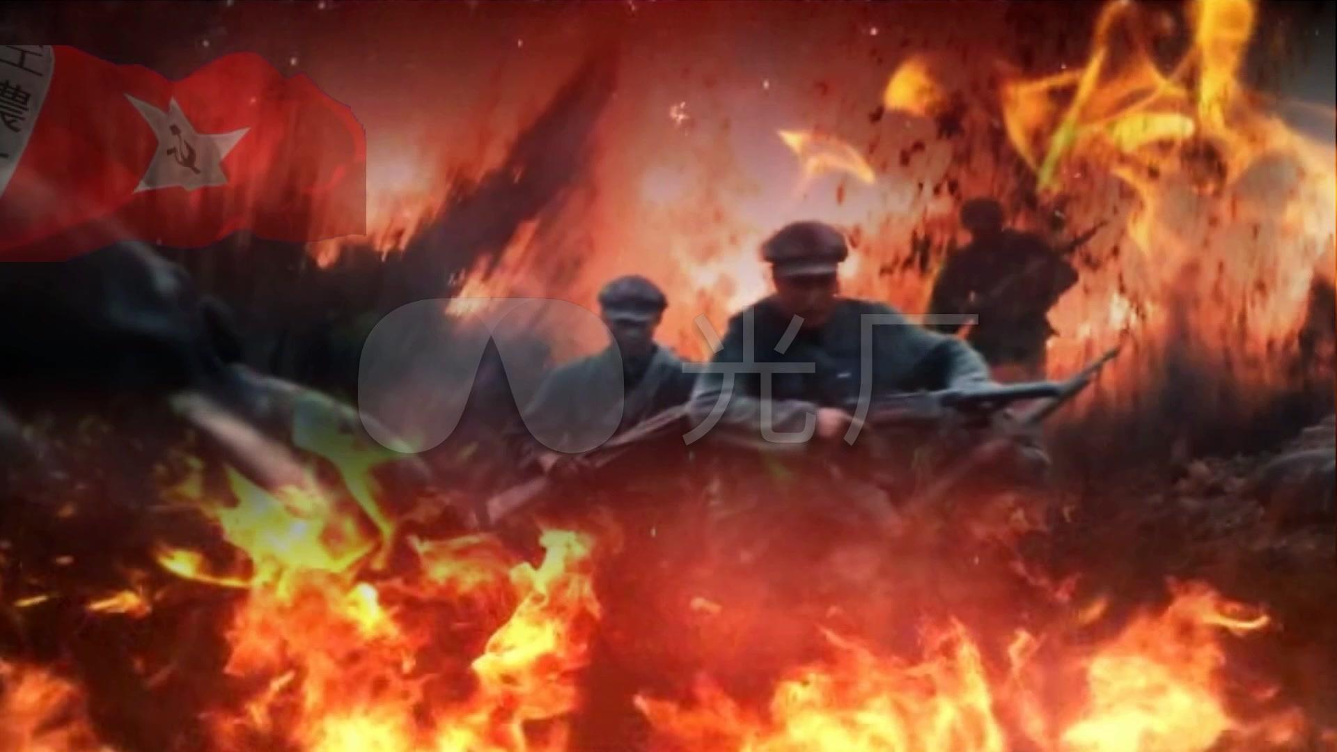战争阵地冲锋油画高清炮火_1920X1080_教程高清视频视频初学图片