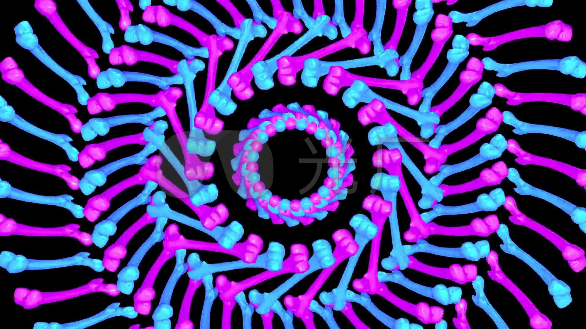 动态素材发散圆圈扩展全息投影