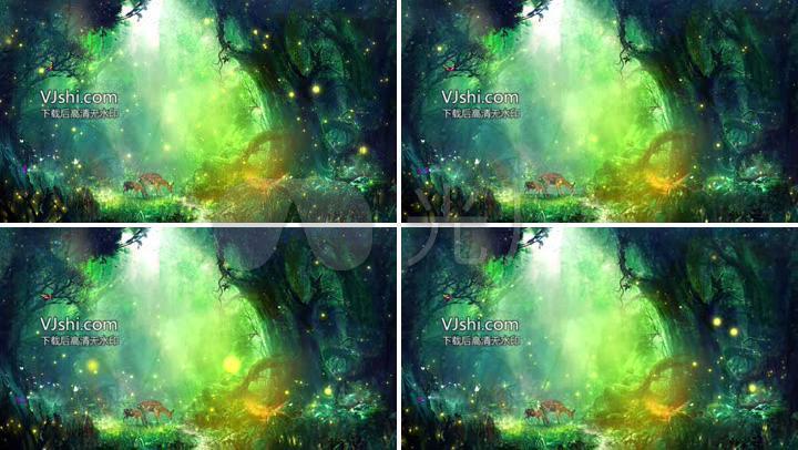 唯美梦幻童话森林led舞台背景视频图片