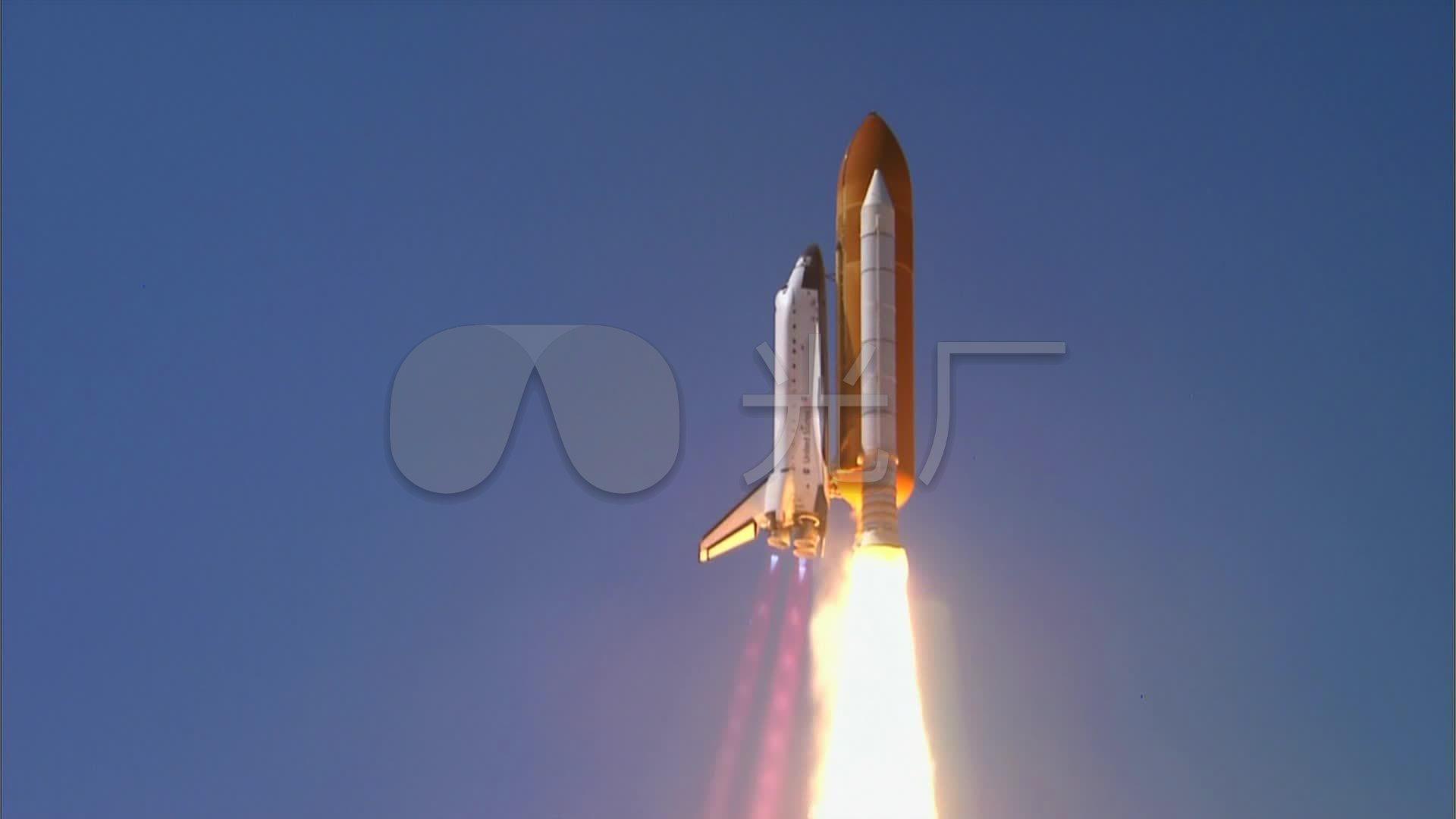 航天飞机起飞发射_1920x1080_高清视频素材下载(编号