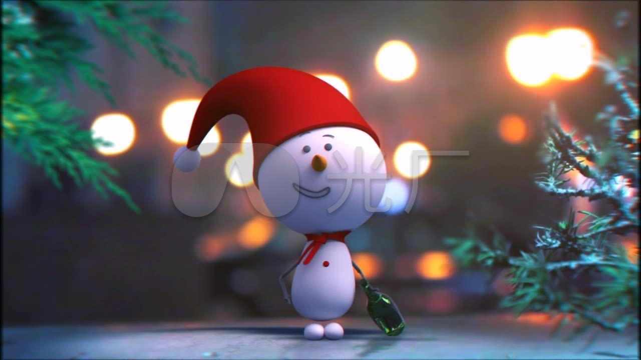 圣诞主题圣诞视频人v主题新年a主题小雪视频_1百度云和谐素材图片