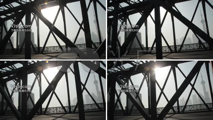 上海外白渡桥阳光
