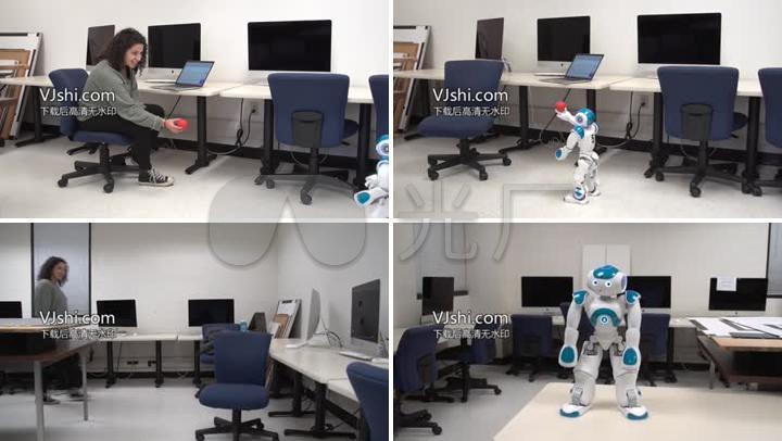 跟人互动的机器人