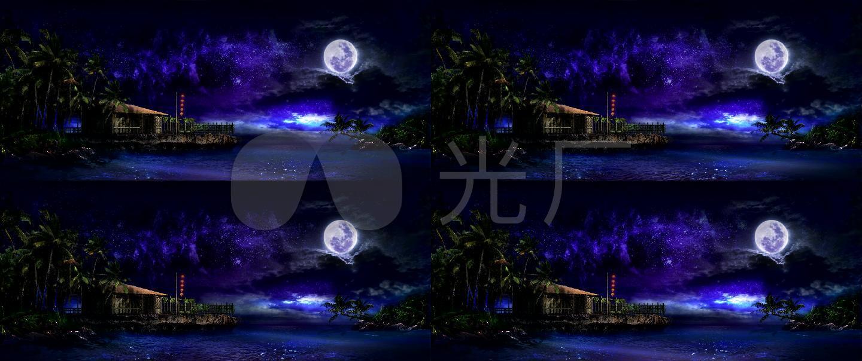 椰林海夜色唯美