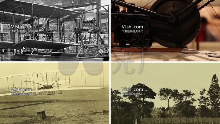 莱特兄弟发明飞机的历史文献画面