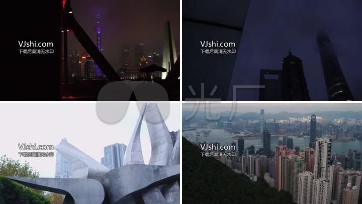 最新上海香港夜景拍摄