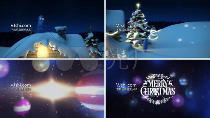 新年圣诞节节日祝福动漫片头素材6867