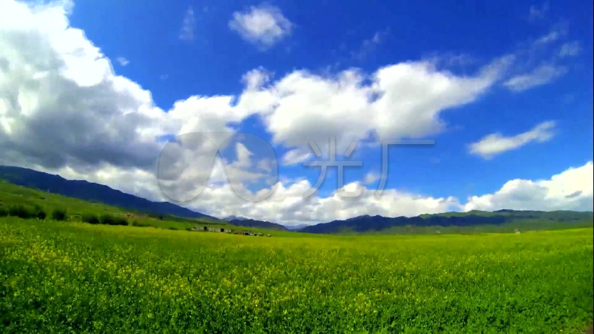 雪山草原风光草原缭绕比赛云雾_1920X1080_航拍视频主持人图片