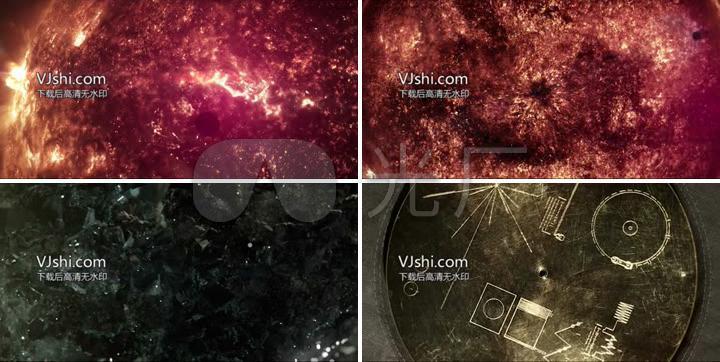 外太空宇宙聚集能量聚变火焰美丽星空