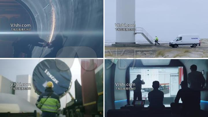 自然力量风力风力发电机组生产组装