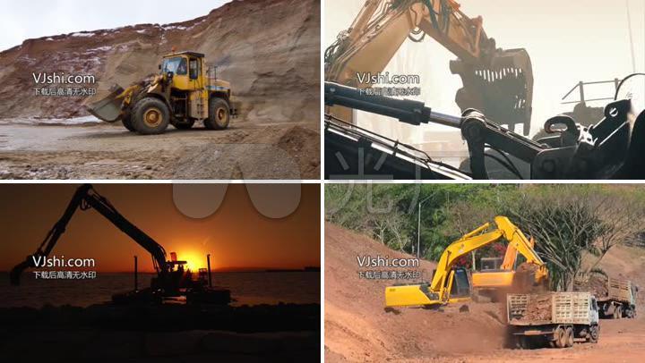 铲土车挖掘机施工