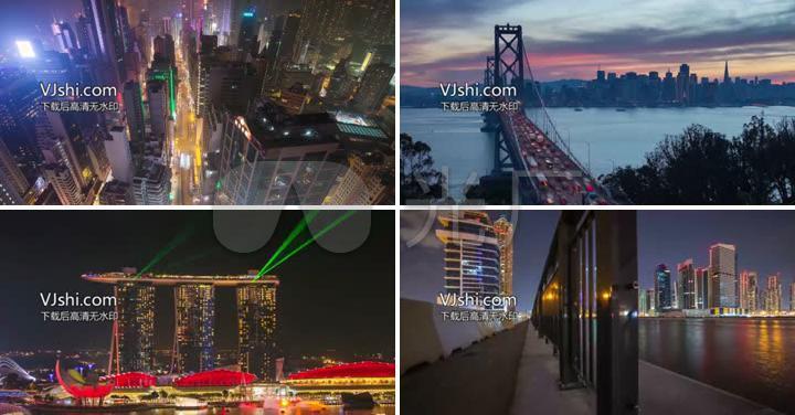 4k世界著名地标建筑延时摄影