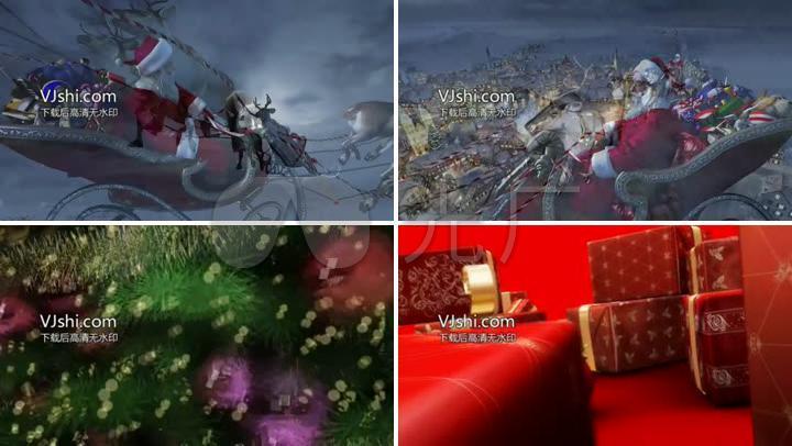 圣诞节晚会庆典活动村庄城镇麋鹿圣诞老人