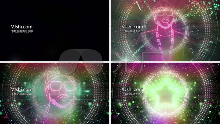 新动感五角星舞台背景说唱自制LED背景酒