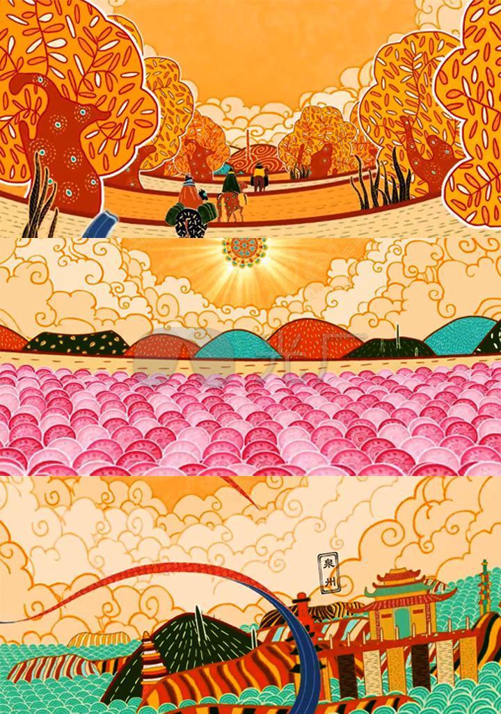 敦煌莫高窟丝绸之路敦煌莫高窟飞天中国元素古代中国二维动画玉门关图片