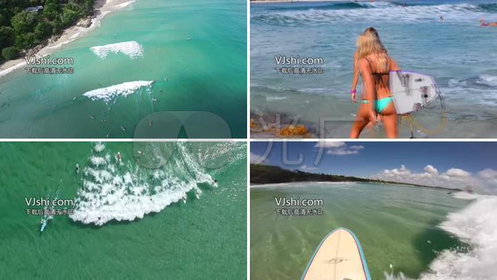 海边游泳民族比基尼海上美女冲浪度假_1920X滑板美女图片图片