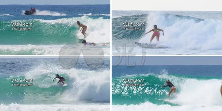 360全景VR尺度比基尼海上美女冲浪v尺度_256大纹身滑板美女图片