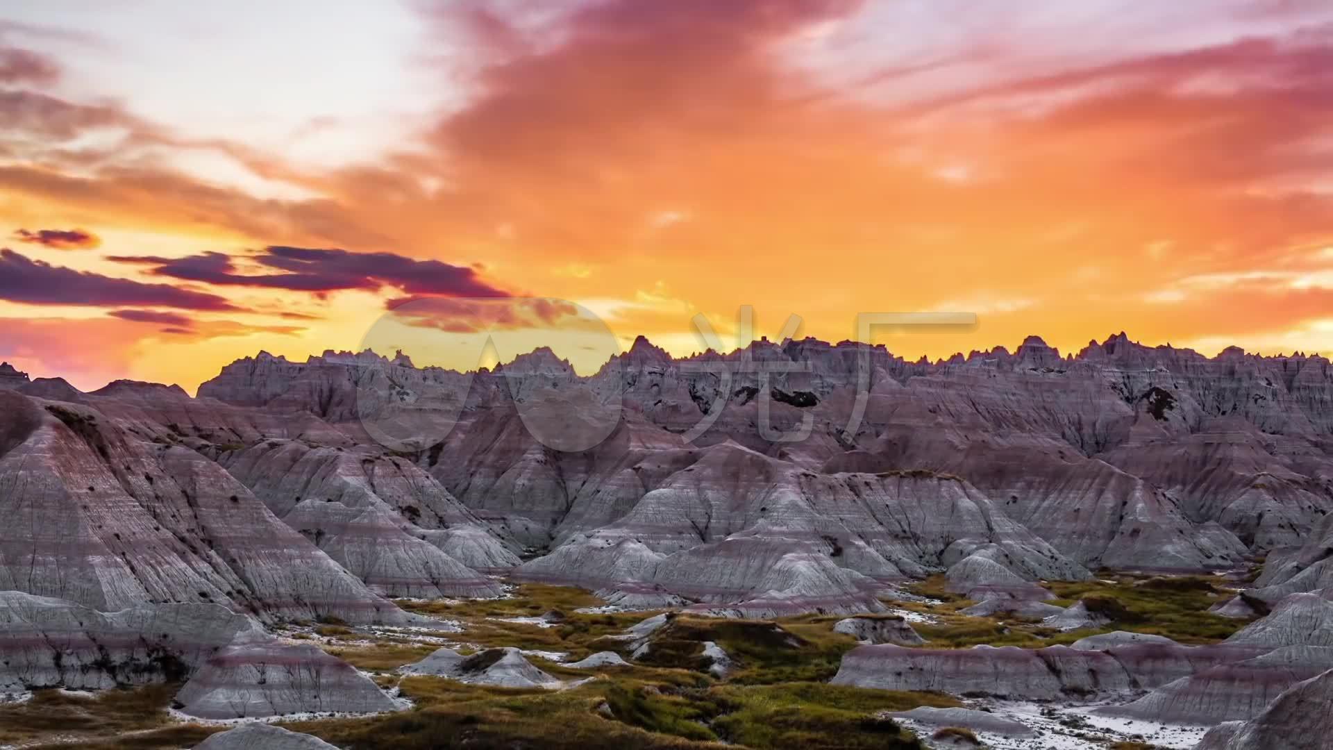 雪山风光风光视频风电场峡谷草原(延时)_1920风光石鲁图片