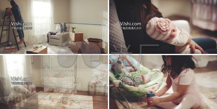 家居装修迎接婴儿准备工作女孩成长
