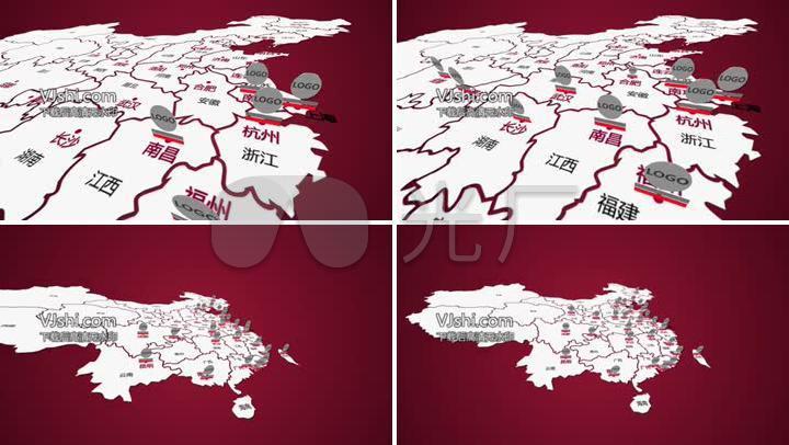 红色中国地图